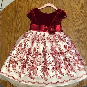 Velvet Top Christmas Dress